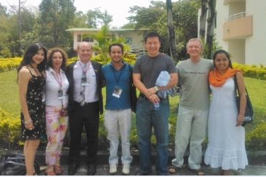 47th ASOCOPI Conference invited speakers: Brock Brady (third from left); former TESOL President Jun Liu (fifth from left)