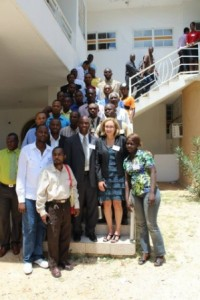 TESOL Executive Director Rosa Aronson at the MATESOL conference in Miragoane, Haiti.